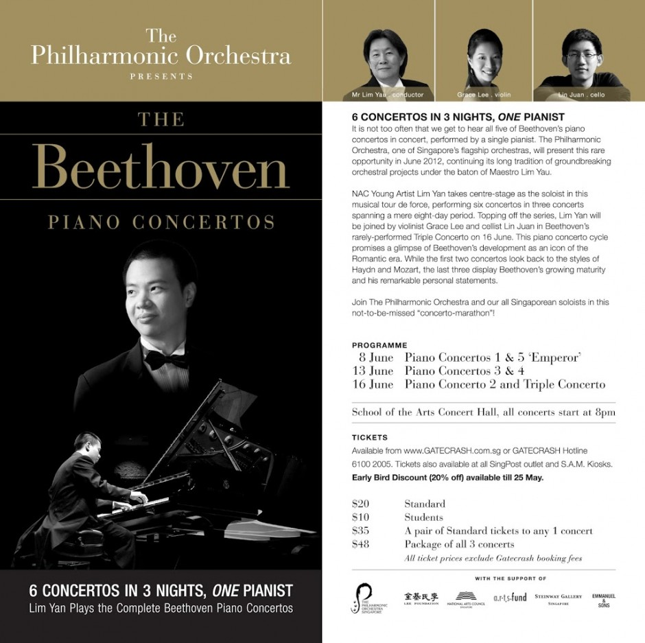 The Philharmonic Orchestra – Lim Yan Plays the Complete Beethoven Piano Concertos